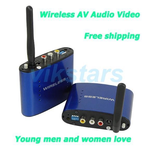 Frete grátis Hot venda Nova 5.8 GHz AV Wireless Audio Video Sender Transmissor Receptor 200 M Sender AV Receptor de Áudio PAT630