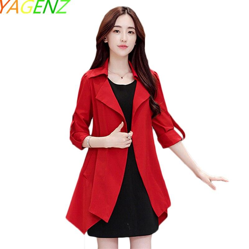 YAGENZ Cardigan Coat Cocoon Clothing Windbreaker Female Large-Size Women Section New