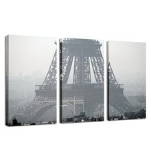 3 Piece Paintings  Wall Art Canvas Painting Pictures For Bedroom Decoration Paris City Eiffel Tower
