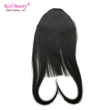 Straight Human Hair Clip Bangs Fringe Clip In Fringe Real Hair Brazilian Virgin Hair 8″ Front Neat Frange a Clip Cheveux Humain
