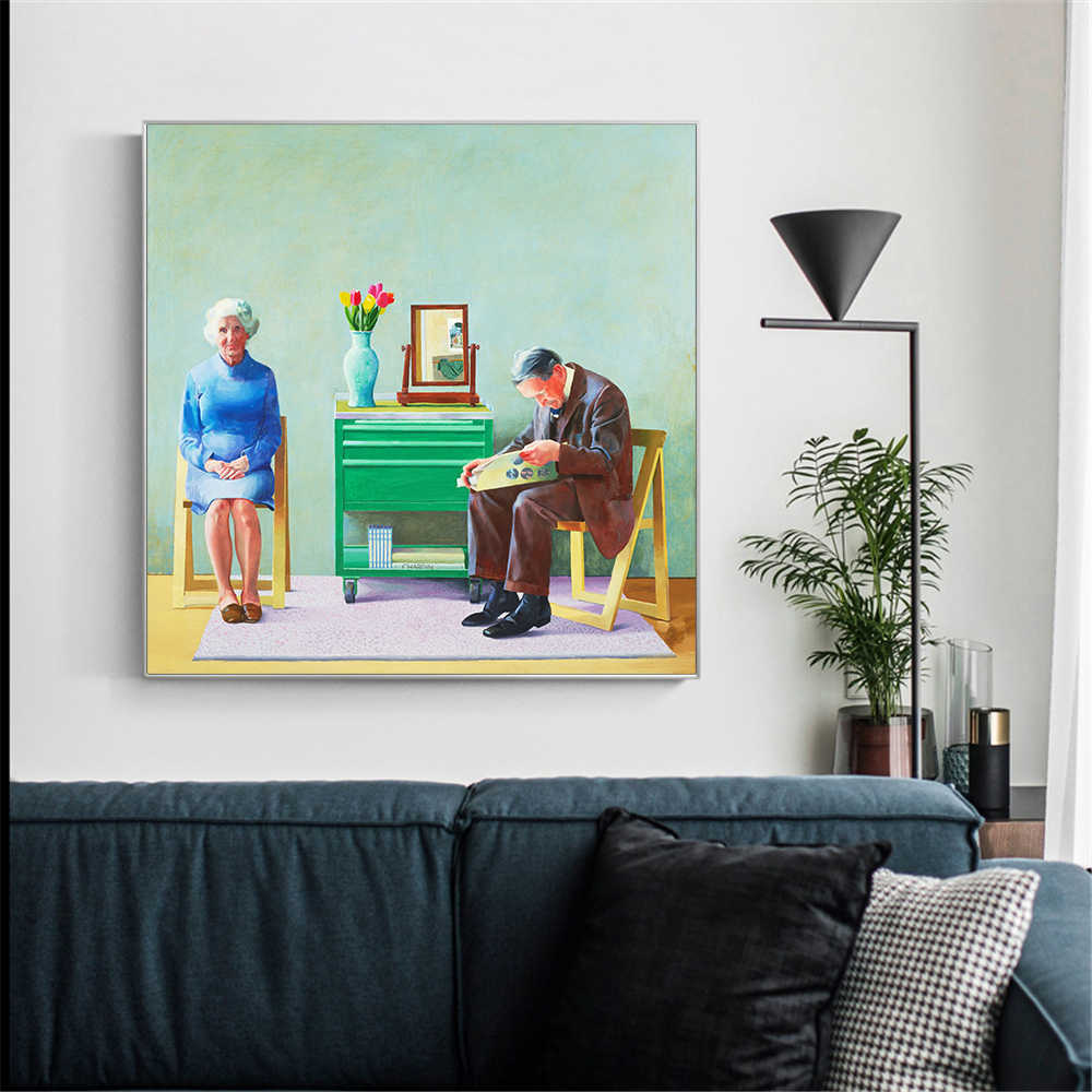 Modern Landscape Style Pictures For Living Room David Hockney Garrowby Hill Canvas Painting Home Decor Wall Posters