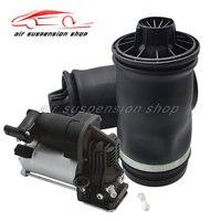 1 Set Air Suspension Rear Spring Bags w/ Compressor Pump for Mercedes Benz W164 GL320 GL350 GL450 GL550 ML320 ML320 ML450 ML500