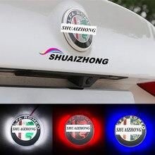 2шт 3D светодиодный светильник ALFA ROMEO Автомобильный логотип эмблема значок наклейка для Mito 147 156 166 Giulietta Mito Spider GT аксессуары для стайлинга автомобилей