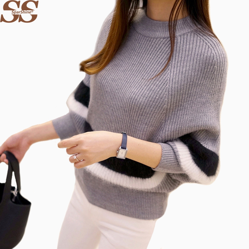 SPARSHINE Winter Women Sweaters And Pullovers Female Loose Knitted Christmas Sweater Pull Femme Hiver Elegant Batwing Women Tops