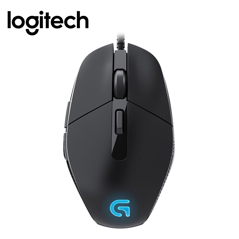 Logitech G302 Wired Gaming Mouse with Breathe Light 4000dpi USB Interface Support Office Test for PC