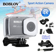 Boblov B1 4K 12MP HD 1080P 2.45″ WIFI DVR Sports Action Helmet Camera Camcorder 170 degree Waterproof + 8in1 Accessories Kit
