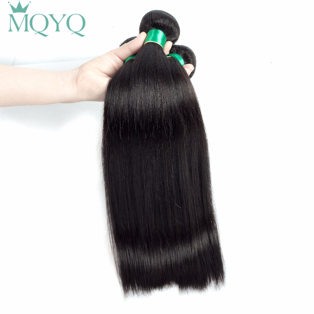 Fashion Queen Malaysian Straight Human Hair 3 Pieces Hair Weave Bundles 8-28inch Natural Color Free Shipping Non Remy Hair