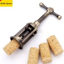 1 stücke Retro Rotwein Flaschenöffner Zink-legierung Korkenzieher Cork Puller Remover Champagner Korkenzieher Dosenöffner Antike Bronze