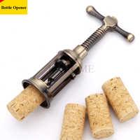 1 stücke Retro Rotwein Flasche Opener Zink-legierung Korkenzieher Cork Puller Remover Champagner Korkenzieher Dosenöffner Antike Bronze