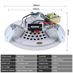 Image 5 - 10W 5 Inch Metall Mikrofon Eingang USB MP3 Player Decke Lautsprecher Öffentlichen Broadcast Musik Lautsprecher für Home/Supermarkt