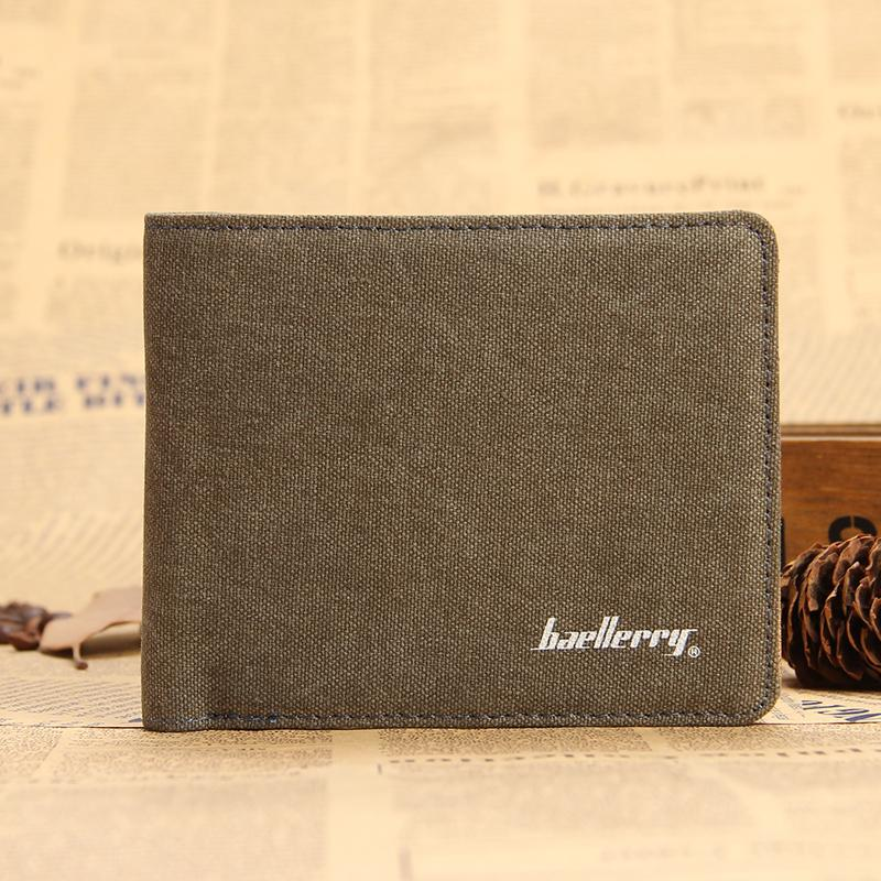 Hot Sale Fashion Men Wallets Design Quality Casual Short Style Card Holder Purse