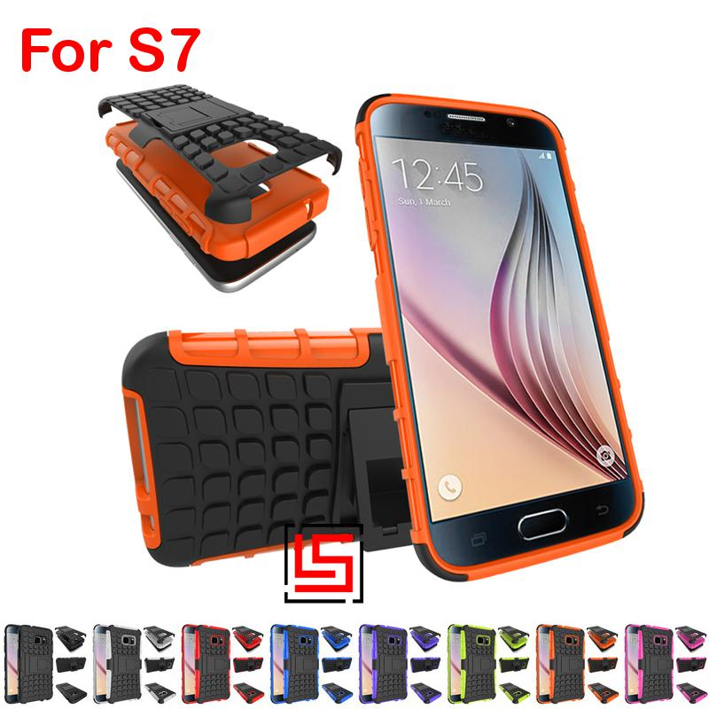 Armor Rugged Hybrid Hard PC Plastic TPU Soft ShockProof Phone Case etui Cover Cove Bag For Samsung Galaxy Galaxi Galaksi S7