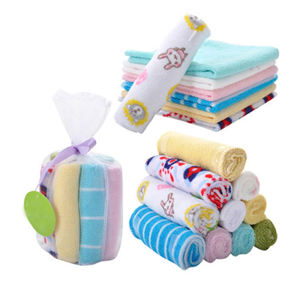 8pcs New Soft Baby Infant Newborn Towel Washcloth Bathing Feeding Wipe Baby Handkerchief Face Small Towels For Kids Caring