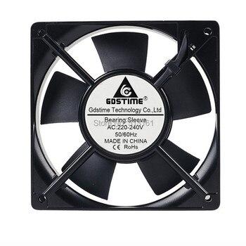 2PCS Gdstime 220V 240V 12CM 120x120x25mm AC Cooling Fan Sleeve Bearing PC CPU Industrial Cooler 1pcs dual ball 60mm 6cm 60x60x25mm ec brushless fan ac 110v 115v 120v 220v 240v axial fan 6025 industry cooler