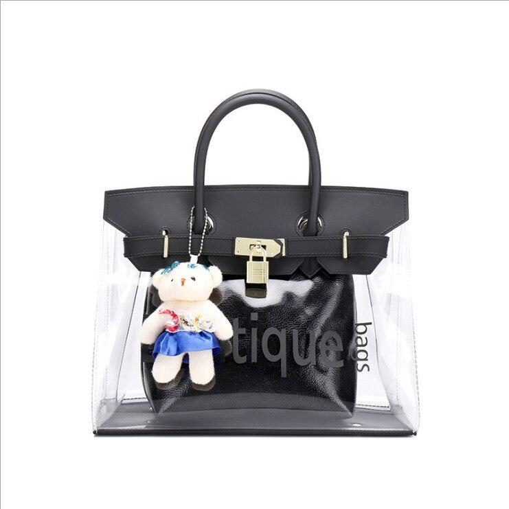 2fb583d376f7 Новая брендовая оригинальная качественная модная трендовая Прозрачная  квадратная сумка через плечо для диких леди Kate