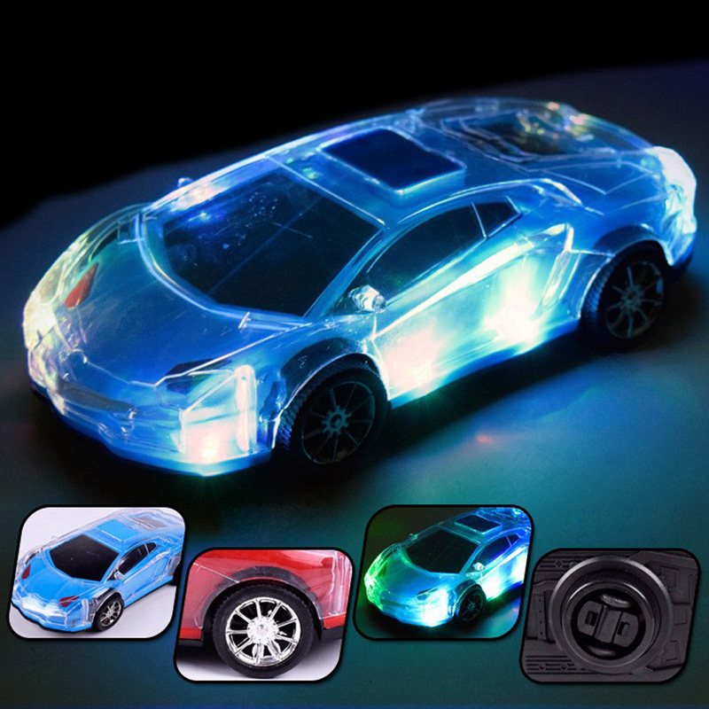 electric universal driving lighting music sports car childrens gift plastic pvc simulation flashing car model kids toys