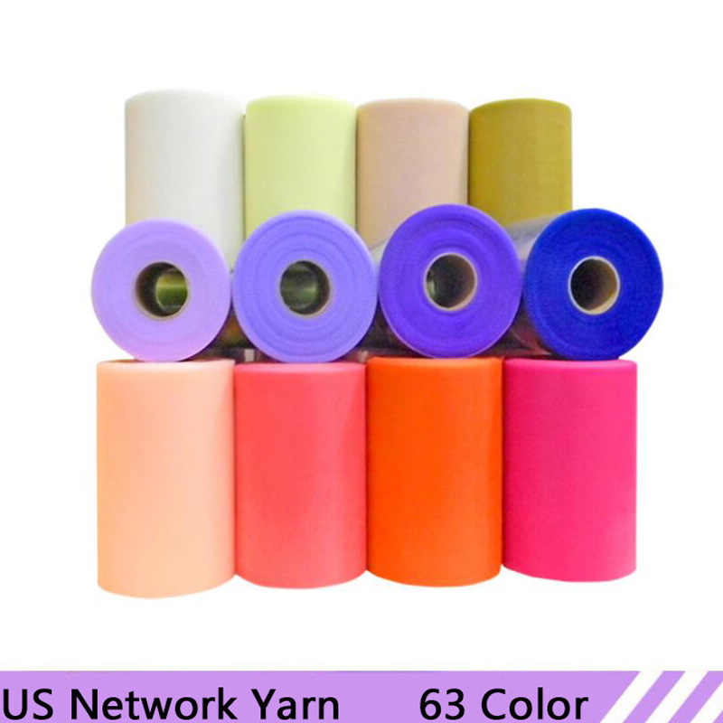 63Colors 100 Yards Tulle Roll Organza Fabric Spool Tutu Party Wedding Decoration DIY Craft Supplies Birthday Gifts Wrap Supplies