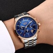 ¡Nuevo! reloj de hombre LIGE de lujo a la moda, reloj deportivo y de ocio para hombre, reloj de cuarzo multifunción resistente al agua, reloj Masculino