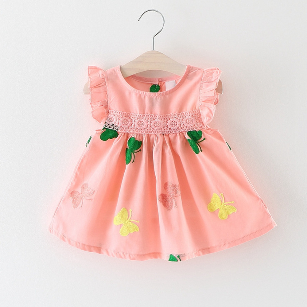 6M-3T Baby Girls Dress Floral Printed Kids Clothes for Summer Bebe Clothing Infant C Tank dress 9 12 18 24 Pink white
