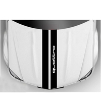 YONGXUN For Audi Bonnet Racing Stripes Graphics Stickers TT Quattro S 0215