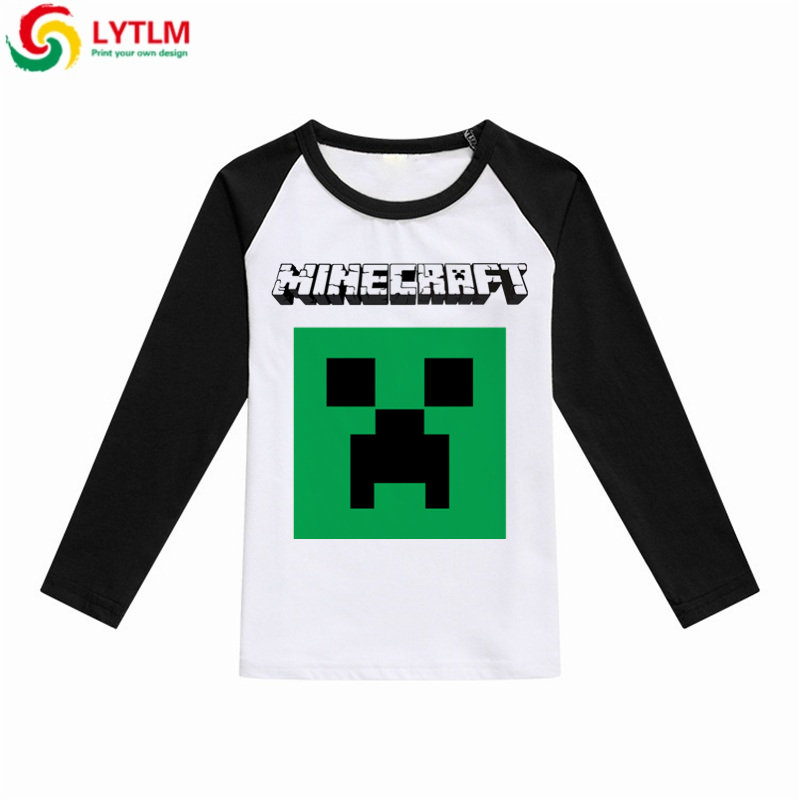 LYTLM Baby Tops Boys Long Sleeve Minecraft Clothes for Kids Autumn 2018 Tiny Cottons T Shirt Boys Vetement Fille Tee Shirt Fille