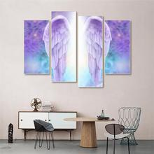 Laeacco Canvas Angel Wings Painting Calligraphy Nordic Home Decoration Posters and Prints Wall Artwork Pictures for Living Room
