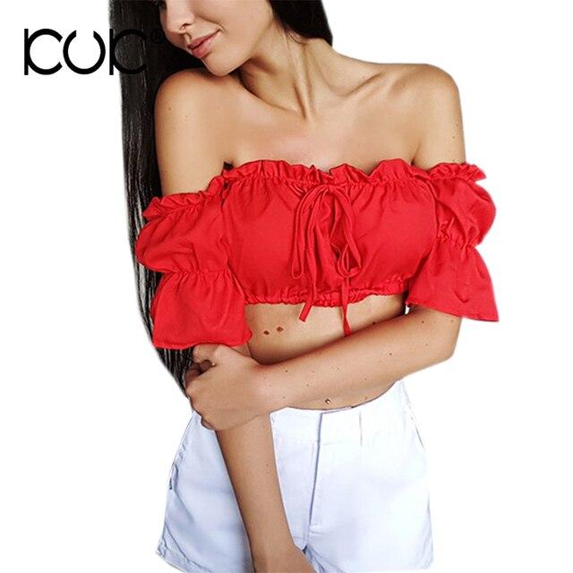 Кук Блузки для малышек 2017 Boho Костюмы рубашка Для женщин пикантные летние шорты рукав укороченный топ в богемном стиле хиппи пляжная одежда со спущенными плечами A021