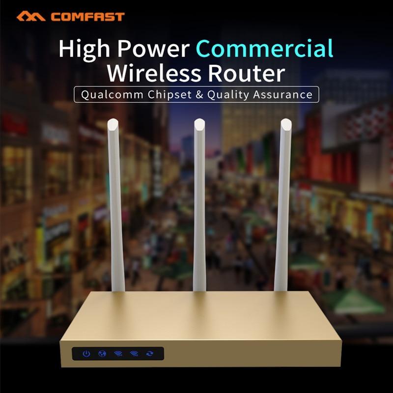 COMFAST 750 Mbps 5G & 2.4G AC sans fil wifi routeur 500 m ² de couverture wifi haute puissance wi-fi routeur avec PA 3 * 6dBi antennes 4 LAN port