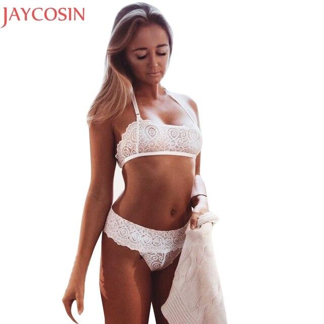 10c4431cf46e € 2.63 37% de DESCUENTO|Mujeres sexy lingerie Trajes Encaje bralette  babydoll Ropa interior señora sujetador transparente nightwear bodysuit ...