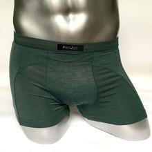 Underwear Men Boxer Shorts Underpants Softy Fashion Cotton U convex pouch Boxers Sexy Comfort Cueca Boxer Men Trunks elastic waist stripe voile panel u convex pouch boxer brief