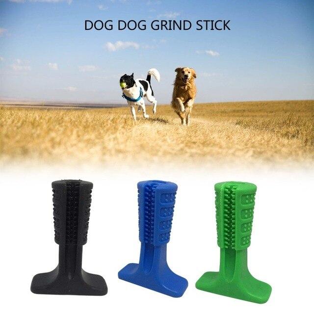 Tre Colori Doggy Bastone Pennello Creativo Silicone Cani Efficace Spazzolino Da