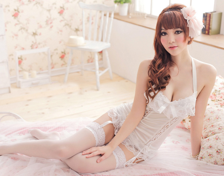 women Sexy Night Dress Sleepwear Sleeveless Nighties Nightdress sex costumes erotic lingerie intimate dress club wear sex toys