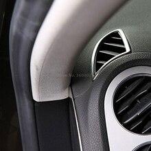 Для Volkswagen Tiguan 2009-2013 2014 2015 ABS матовые автомобильные авто аксессуары кондиционер вентиляционная отделка внутренний кондиционер крышка