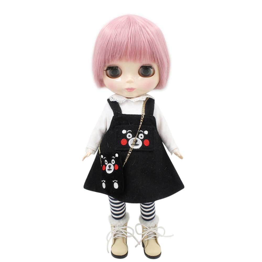 blyth doll for plump body factory fat pink lady with bandgs bjd toys 90BL1063 neo suitable