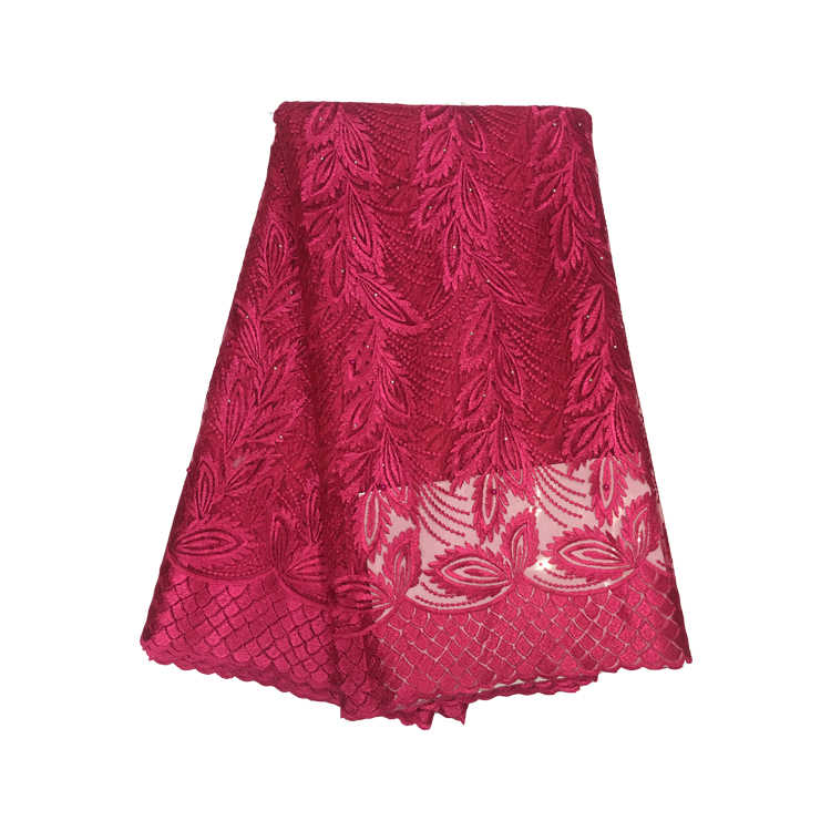 4b30c1c06e 2019 Rose red High quality nigerian Bridal french net lace african lace  fabric for wedding dress 5yards/lot free shipping