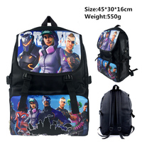 45*30*16cm Western Animiation Action Toy Figure Fortnight Battle Victory Royal Backpack Study Stationery Bag For Kids Gift