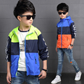 Spring Autumn Jackets for boys Windproof Waterproof Breathable Yellow green Hooded Children Outerwear for 6 8 10 12 14 15 years