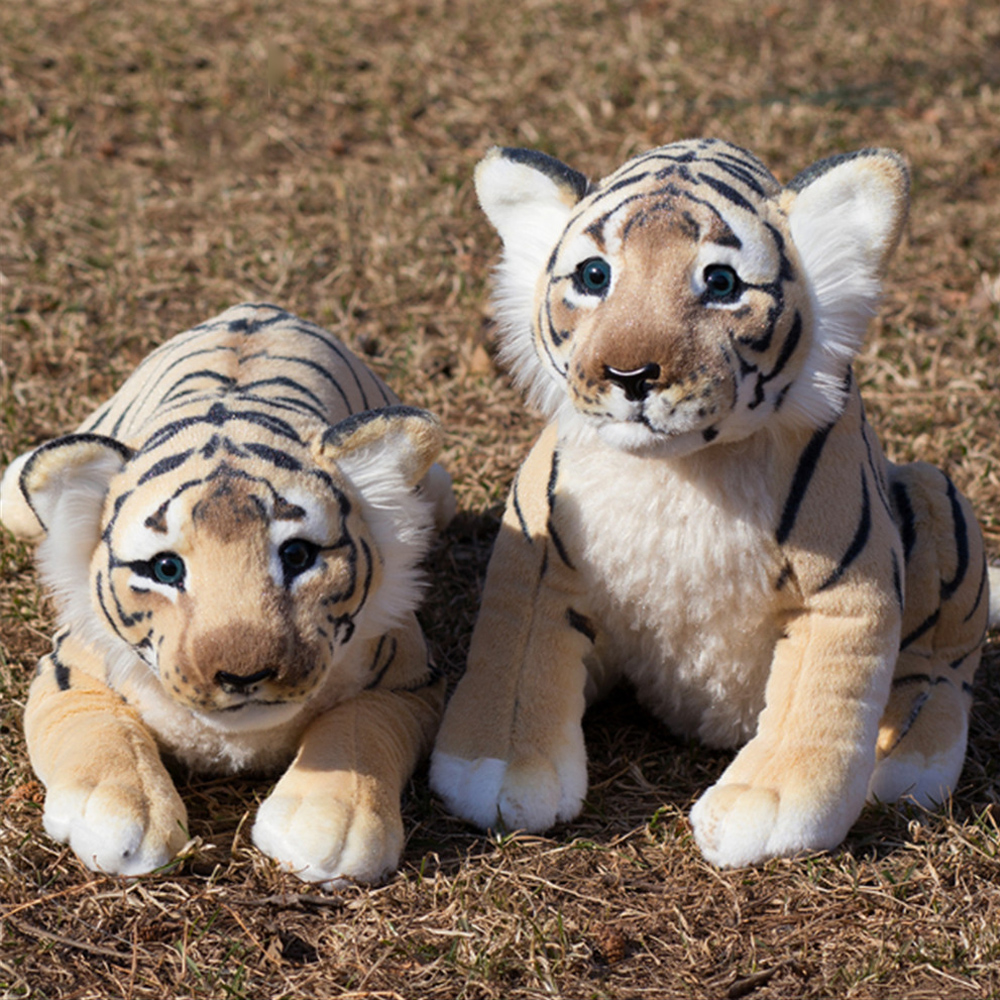 Fancytrader Soft Stuffed Animals Tiger Plush Toys Pillow Simulated Animal Baby Tiger Leopard Doll Brinquedo Toys For Children stuffed animal prone dog plush toy about 85 cm soft doll throw pillow t7790