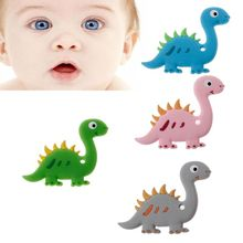 Silicone Teether Animal Baby Teething Toy BPA Free Cartoon Pendant Nursing Necklace Toddler Toys Chew
