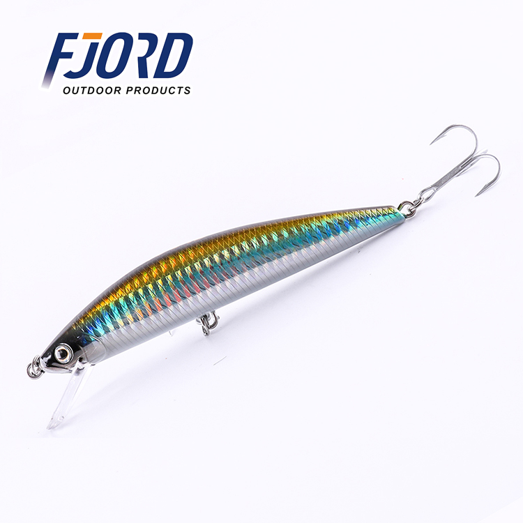 FJORD Hot Sale 5colour 125mm 40g Minnow Laser Hard Professional SwimBait Artificial Bait Equipped VMC Hooks Sinking Fishing Lure