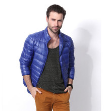 7 Colors Portable Ultralight 90% White Duck Down Winter Jackets Men Casual Warm Lightweight Coat Male Cheap Outerwear W40(China)