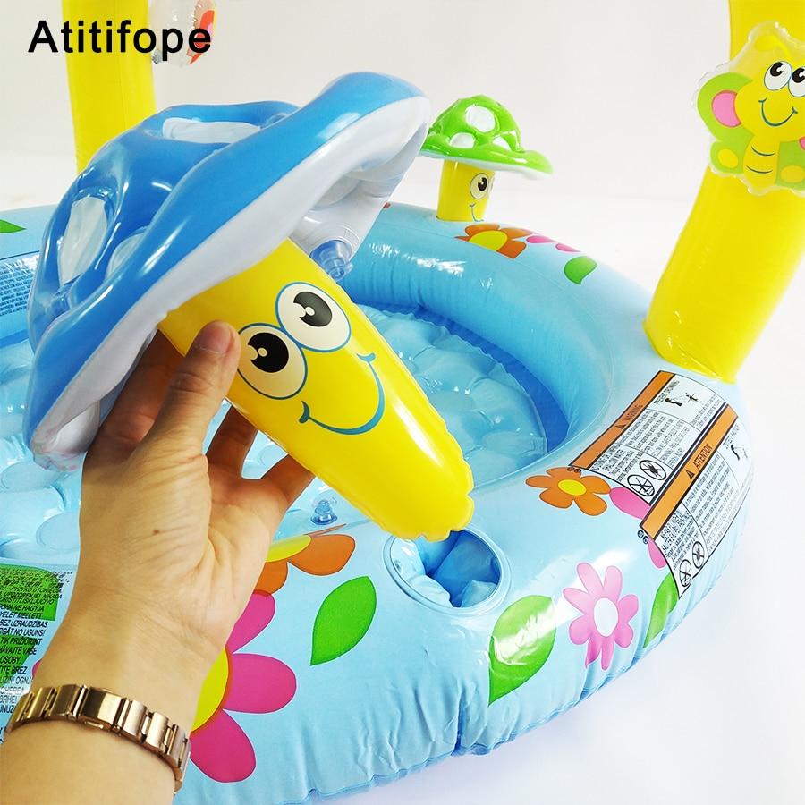 Tapis d'éclaboussure de piscine pour bébé tapis de jeu d'eau pour bébé jouet piscine gonflable pour enfants Center de jeu de plage arroseur d'eau de piscine pour enfants - 5