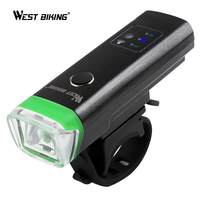 WEST BIKING Bicycle Front Light Intelligent Sensitive USB Rechargeable Waterproof Bright Flashlight Handlebar Cycling Light
