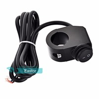 12v 16A Waterproof Motorcycle CNC Aluminium Alloy Switches 7 8 22mm Handlebar Headlight Switch And 2