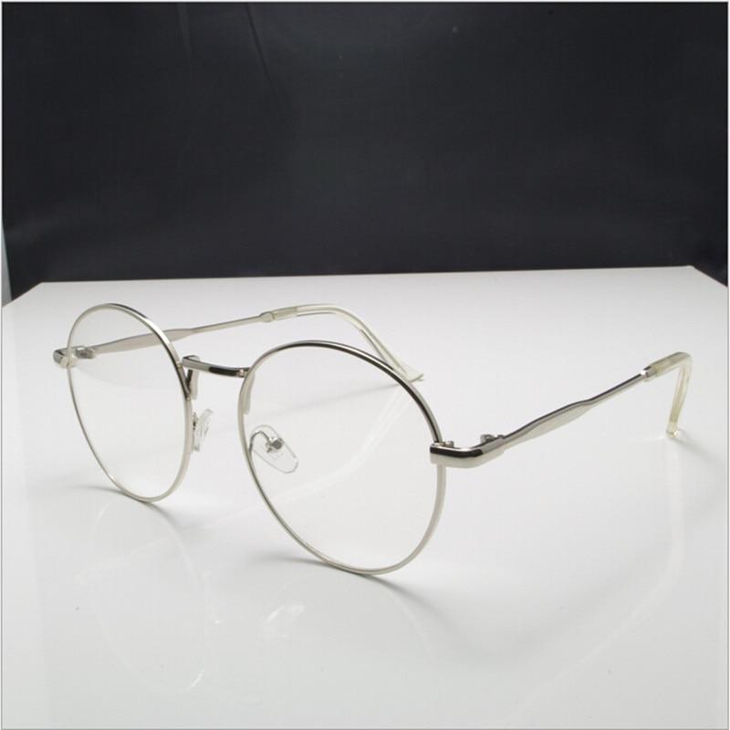 59dd5d29bb New high quality antique retro round eyeglasses metal frame men large  vintage round glasses frames women UV black oculos redondo-in Eyewear Frames  from ...