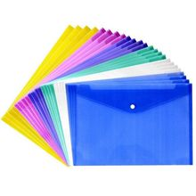 24 Pcs Waterproof with Snap Button Closure,Project Envelope Folder - Water/tear Resistant (24 pcs pack)