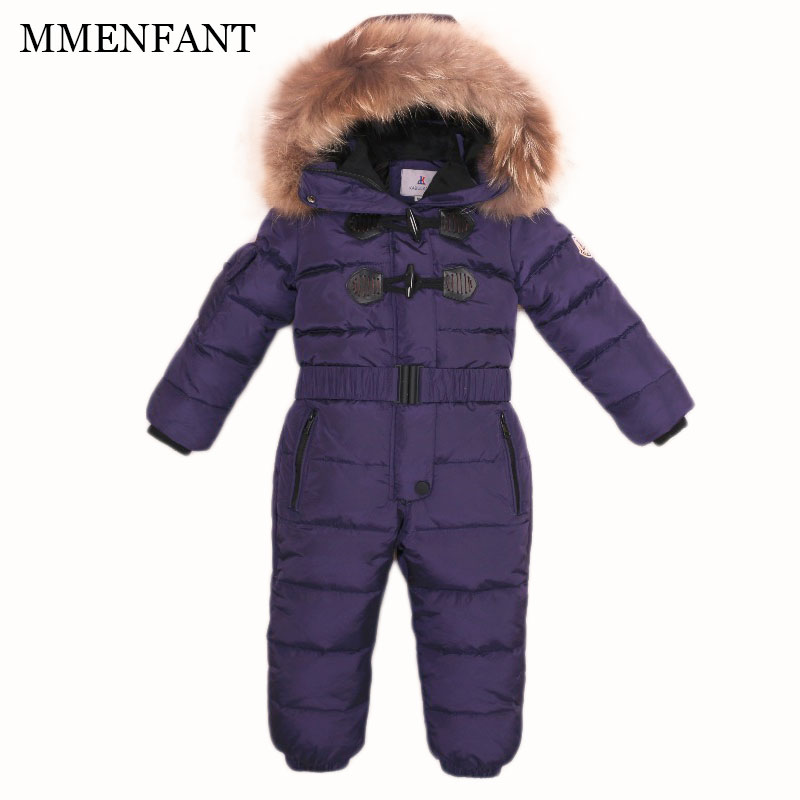 Baby romper 2017 Winter children's sets overall kids jumpsuit clothes thickening snowsuit boys and girls down jacket ski suit