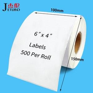 Image 1 - 4x6 Termico Etichette di Spedizione 100x150mm per Zebra 2844 Zp 450 Zp 500 Zp 505, 100x100mm, 100x200mm, Top Rivestito, 1 Rotolo