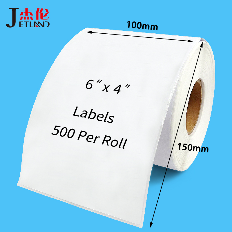4x6 Thermal Shipping Labels 100 x 150 mm for Zebra 2844 Zp 450 Zp 500 Zp 505, 100 x 100 mm, 100 x 200 mm, Top Coated,  1 Roll-in Stationery Stickers from Office & School Supplies
