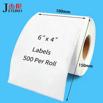 4x6 Thermal Shipping Labels 100 x 150 mm for Zebra 2844 Zp-450 Zp-500 Zp-505, 100 x 100 mm, 100 x 200 mm, Top Coated,  1 Roll - DISCOUNT ITEM  0% OFF All Category
